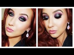 Black & Purple Edgy Holiday Makeup Look | Jaclyn Hill - YouTube
