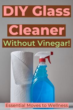 Get sparkly clean, streak-free glass and mirrors with this DIY glass cleaner without vinegar. Avoid any harsh chemicals from traditional cleaners. Diy Window Cleaner, Diy Bathroom Cleaner, Diy Floor Cleaner, Homemade Glass Cleaner, Mirror Cleaner, Cleaning Mirrors Without Streaks, Natural Lifestyle, Healthy Lifestyle, Diy Products