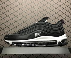 ac8184c50960 New Nike Air Max 97 Black White Sneakers 312834-008 On Sale