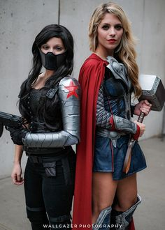 Bucky Barnes and Thor #MARVEL #Cosplay | NYCC 2016 - Tom DeRosa