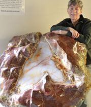 The world's largest Opal-Filled Thunderegg at Rice Northwest Museum of Rocks & Minerals, Hillsboro, Oregon
