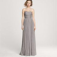 grey BM dress