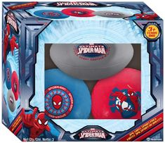 Ball Bounce and Sport Ultimate Spiderman Vinyl Sport Balls, 3-Pack (Styles and Colors May Vary) Ball, Bounce & Sport,http://www.amazon.com/dp/B00B662OP6/ref=cm_sw_r_pi_dp_tfU6sb1PKBFQPX8M