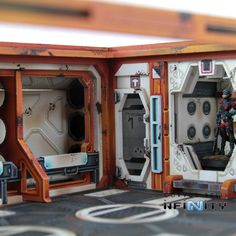 This Product Contains one complete Cosmica Hallway building, designed for Infinity the Game. It includes one Gamma Frame with one Cosmica Airlock Facade, two Cosmica Hallway Facades and one Cosmica Tr