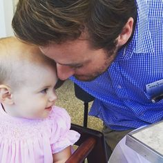 Armie Hammer...daddy's and babies always make me smile :)