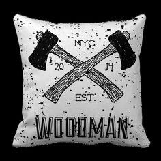 Poduszka drwal WOODMAN pod-6055 | Poduszki ozdobne \ Hipster Poduszki ozdobne \ Pozostałe | ArtMini.pl
