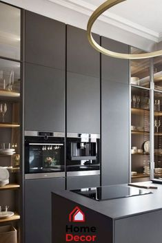 How To Style Your Kitchen Design Into A Themed Spot Modern Decoration modern kitchen decor Modern Kitchen Interiors, Contemporary Kitchen Design, Interior Modern, Home Decor Kitchen, Home Interior, Kitchen Furniture, Kitchen Ideas, Design Kitchen, Interior Design