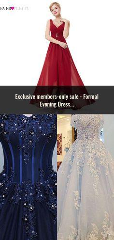 2bc7ba170e Formal Evening Dresses Long EP08697 Ever Pretty Women Elegant Navy Blue  White V neck Sleeveless Empire