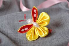 Hairpin in the form of a butterfly by Flowersqueen on Etsy