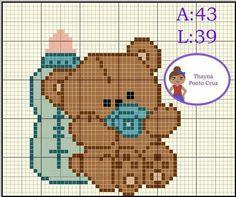 Cross Stitch Alphabet, Cross Stitch Animals, Cross Stitch Charts, Cross Stitch Patterns, Crochet Patterns, Baby Dyi, Crochet Baby Mobiles, Stitch Cartoon, Canvas Patterns