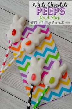 White Chocolate Peep Pops - 100 Easy and Delicious Easter Treats and Desserts
