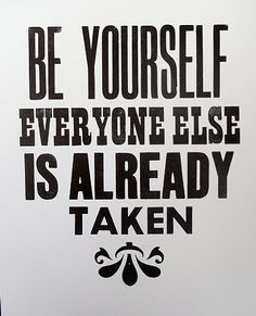 Stephen Kenny, Be Yourself (Oscar Wilde)