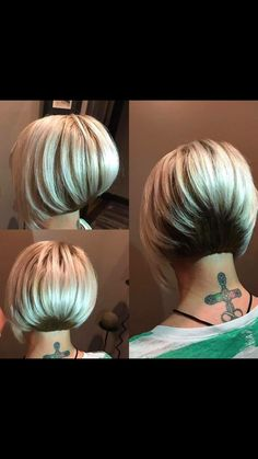 Hair Beauty - Best Stacked Bob Haircuts for Beautiful Women 2018 - beautiful Bob haircuts Stacked stacks Women LongBobHaircuts Short Stacked Bob Haircuts, Asymmetrical Bob Haircuts, Stacked Bob Hairstyles, Bob Hairstyles For Fine Hair, Cute Bob Haircuts, Stacked Bob Short, Haircut Bob, Angled Bobs, Haircut Short