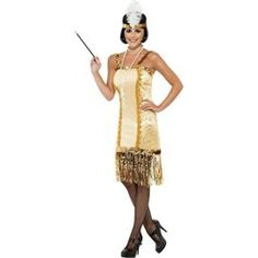 Gold Charleston Flapper Adult Costume Contains: Get dressed headscarf. No longer incorporated: Wig necklace cigarette holder pantyhose footwear. The post Gold Charleston Flapper Adult Costume appeared first on Halloween Costumes Best. Costume Garçon, Flapper Costume, Retro Costume, Costume Shop, Adult Costumes, Costumes For Women, Costume Charleston, Flapper Dresses, Carnival