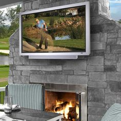 """The 46 Inch Weather-Resistant Outdoor HD Television  -- High-definition television suitable for permanent installation and use outdoors. The television's internal components are integrated into an all-weather exterior that repels rain, dirt, insects, and harsh outdoor conditions. Unlike common televisions that lose picture quality due to glare, this television has a 46"""" active-matrix TFT screen with an anti-reflective window that provides indoor-quality viewing outdoors in shaded daylight."""