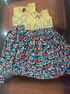 lace and ankara dress for girls