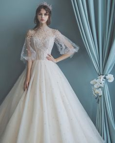 wedding dresses vintage ~ wedding dresses - wedding dresses lace - wedding dresses vintage - wedding dresses ball gown - wedding dresses simple - wedding dresses mermaid - wedding dresses with sleeves - wedding dresses a line Lace Homecoming Dresses, Cute Wedding Dress, Lace Mermaid Wedding Dress, Wedding Dress Trends, Modest Wedding Dresses, Bridal Dresses, Boho Wedding, Vintage Lace Wedding Dresses, Dress Lace