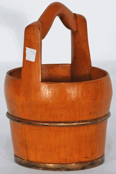 Item # BK0229y = $185 from  www.SilkRoadCollection.com  Antique Asian Decor: Chinese Water Bucket with Handle from China