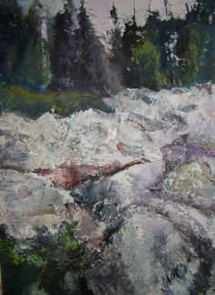 The stone river, Iremel, Bashkortostan, Russia, 70x50cm, oil and acryl on canvas