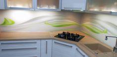 Sklo do kuchyne - sklenená zástena