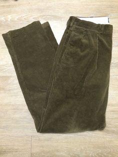 Polo Ralph Lauren Andrew Corduroy Pants Size 34x34 Dark Brown #PoloRalphLauren #Corduroys
