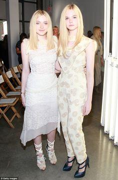 Celeb Style: Elle and Dakota Fanning in white on white.