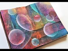 Acrylic abstract art tutorial- art journal page - YouTube