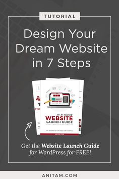 [TUTORIAL] Design your WordPress website from layout to launch with this handy guide in easy 7 steps. Includes all you steps you need to plan, create and promote a self-hosted #WordPress #Freebie #WebDesign #website #WordPress101 #WProadmap #WordpressRoadmap #WebMentor #CourseCreator #buildawebsite #DIYwebsite #websitedesign #solopreneur #Layout2Launch #anitam.com #LearnWithAnitaM Creative Business, Business Tips, Online Business, Online Marketing, Digital Marketing, Twitter Tips, Business Entrepreneur, Instagram Tips, Blogging For Beginners
