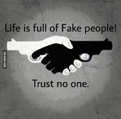 """Life is full of fake people. Trust no one! The I love the words AND the image. This could even be a pretty sweet tattoo! Trust No One Quotes, Deep Sad Quotes, Fake People Quotes, Fake Friend Quotes, Trust Sayings, Fake Friends Quotes Images, Never Trust Anyone Quotes, Wisdom Quotes, Words Quotes"