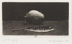 PENTTI KASKIPURO, etsaus, signeerattu ja päivätty 1988. Artist's proof. Printmaking, Still Life, Artist, Artists, Printing, Prints