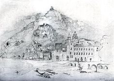 Amalfi, 1841. John Ruskin. An efficient souvenir sketch of the Italian tour of 1840-41 - Chapter Four: Ruskin and the Imagination