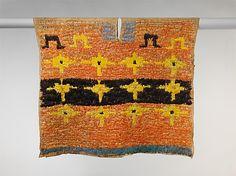 1450-1550 : Peru / Inka : Feathered Tunic : Höhe 44,5 in. x Breite 49 in.