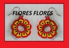 COMO HACER ARETES//mostacilla canutillo perlas