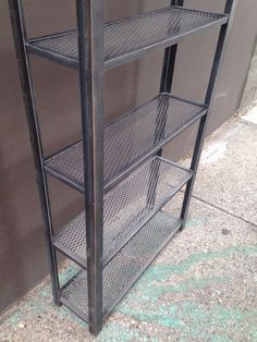 Metal Bookcase Recycled Metal Bookcase Steel by AmerReclamation