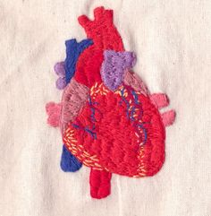 Human Heart Embroidery by Hanecdote, via Flickr