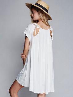 Frida Aasen || FP X Caraway Flowy Mini Dress (Ivory)