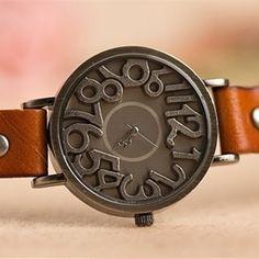 Vintage Style Fashion Skeleton Women Watch Women Hollow Leather Quartz Wristwatch Ladies Casual Watch Montre Femme Gift Clock - Online Shopping for Watches