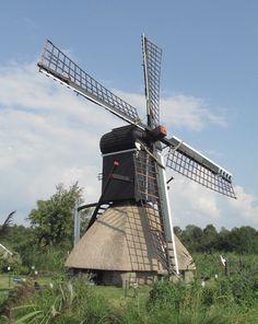 Polder mill De Wicher, Ossenzijl, the Netherlands