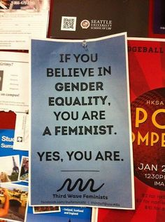 Feminism is actually just pro-equality and anti-oppressionism. We are almost all feminists.