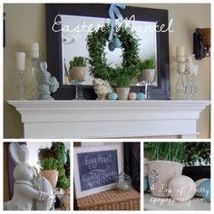 spring mantel decorations - Google Search