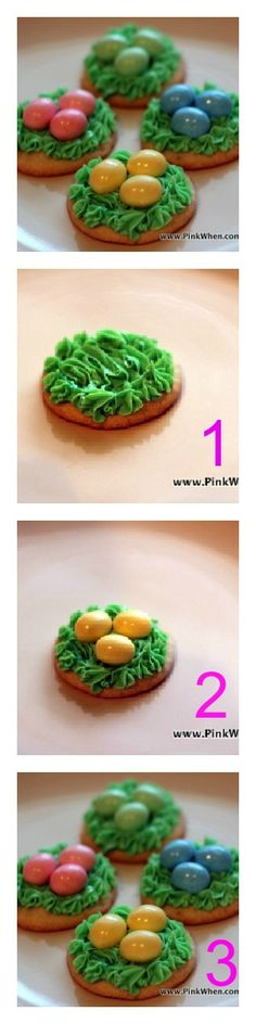 Easter Cookies | Learn how to make these adorable nest cookies from @pinkwhen