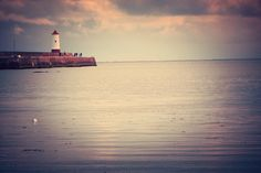 Looking toward the lighthouse on Berwick upon Tweed's pier by Karen V Bryan, via Flickr