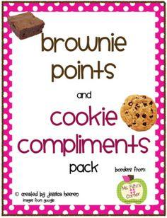 Mrs. Heeren's Happenings: Cookie Compliments & Brownie Points