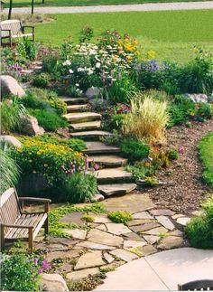 Rock Garden Patio - Backyard Garden Design, Natura...