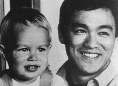 Bruce Lee avec son fils Brandon