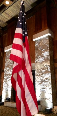 The American flag held a place of honor at a recent wedding at Timbers, one of the wedding venues at the Heritage Resort and Conference Center!