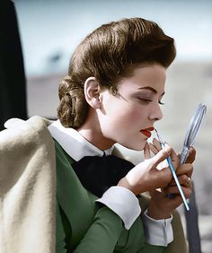 """Gene Tierney """"The Ghost & Mrs.Muir"""" 1947 Coloured by History in Colour"""