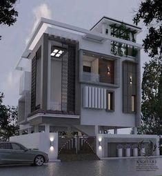 Amazing Ideas House Front Elevation Designs For Duplex Houses Bungalow House Design, House Front Design, Modern House Design, Front Elevation Designs, House Elevation, Independent House, Bungalow Exterior, Modern House Plans, Facade House
