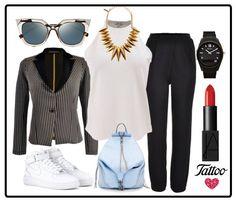 Blanco, negro y accesorios que dan un toque sport a nuestro look del día #ootd #TattooStyle