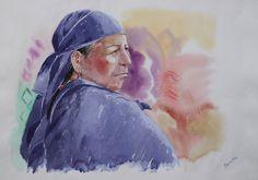 Indígena de los andes ecuatorianos. Obra: Tarquino Mejía